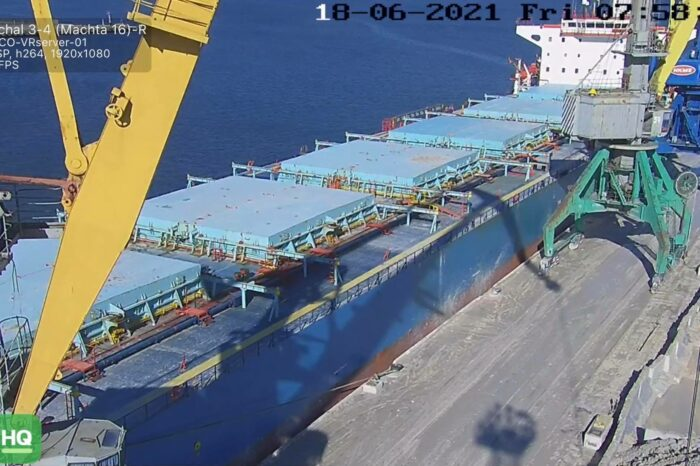 """State Stevedore """"Olvia"""" handled the largest consignment in history"""