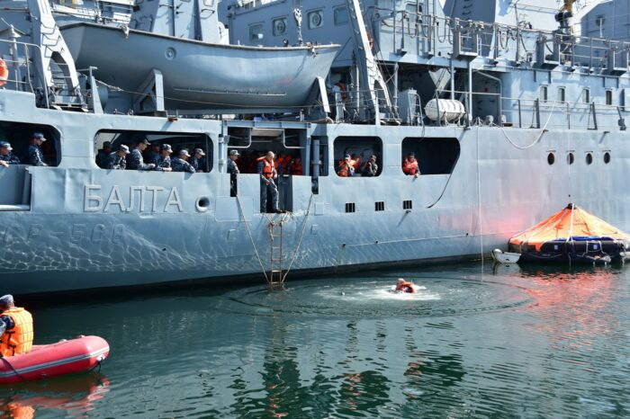 First in 5 years exercises on rescue from damaged ship took place in Ukraine